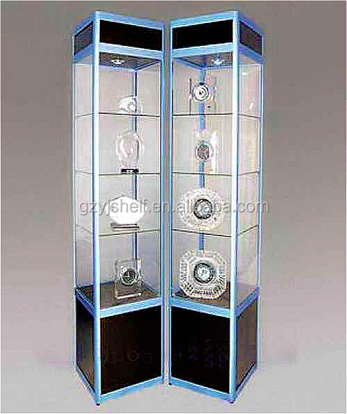 Lockable glass display cabinets/living room showcase corner design ...
