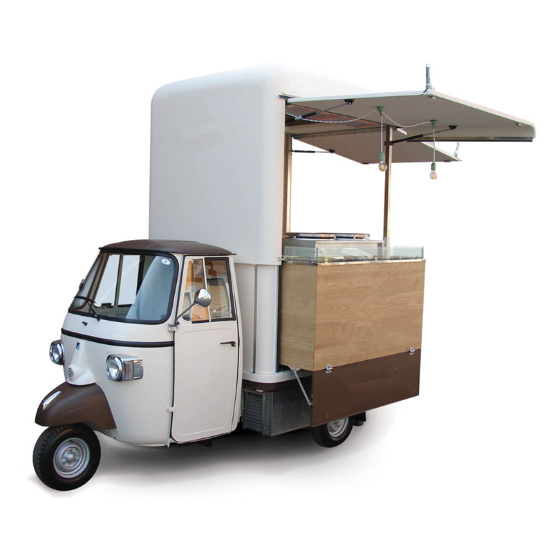 3 wheeler piaggio ape vespa car electric food tricycle cart for sale