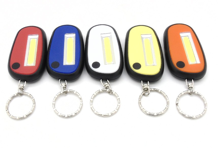 2016 New Style Pocket Key Chain Flashlight COB Super Bright Assorted Colors