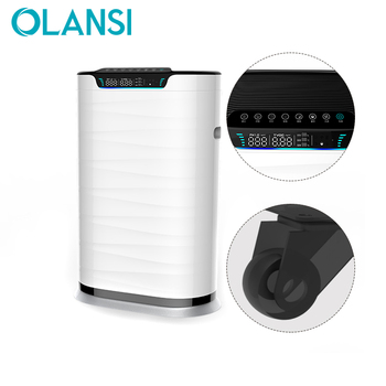 Olansi OEM ODM pm2.5 display WIFI activated carbon filter UV light hepa air sterilizer filter cleaner hepa air purifier