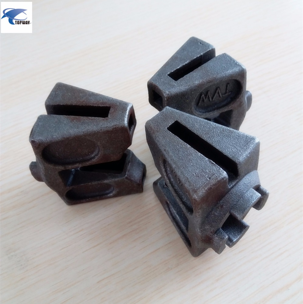 25# steel casted iron head ledger and diagonal brace head for buckle plate scaffolding