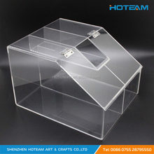 Fixture Displays Clear Acrylic Candy Bin Partitioned Dry Food Display Spices Container Retail Donut Cookie Bin