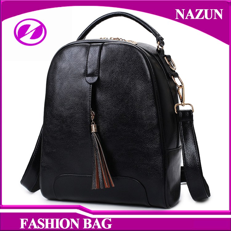 2016 Wholesale Custom Logo New Fashion Travelling Lady Tote Shoulder School backpack bag for women