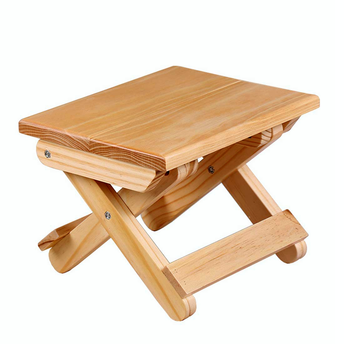Home New designs small solid wooden colourful folding Stool for Toddlers & Kids