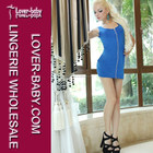 Date Night Ready Hot Sale Blue Sexy Club Dresses 2014 Club A Line Dress
