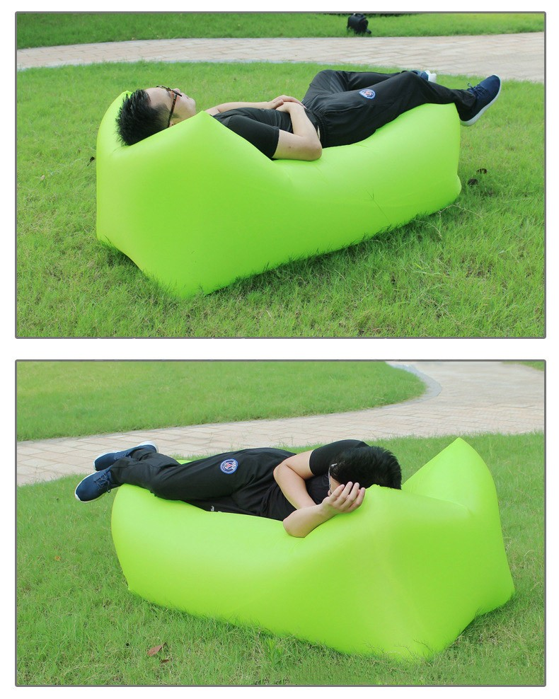 Outdoor Camping Comfortable Durable Bean bag chair Self Inflatable Banana  Lounger Air Sofa Bed