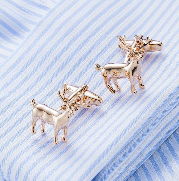 Custom stainless silver blanks tie clip/mens cufflink with cufflink box