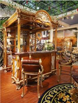 Luxury French Style Baroque Home Bar Furniture/European Classic Mini Bar/ Wooden Hand Carved