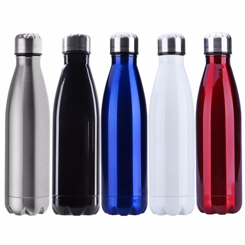 outdoor metal water bottle design flat stainless steel reusable