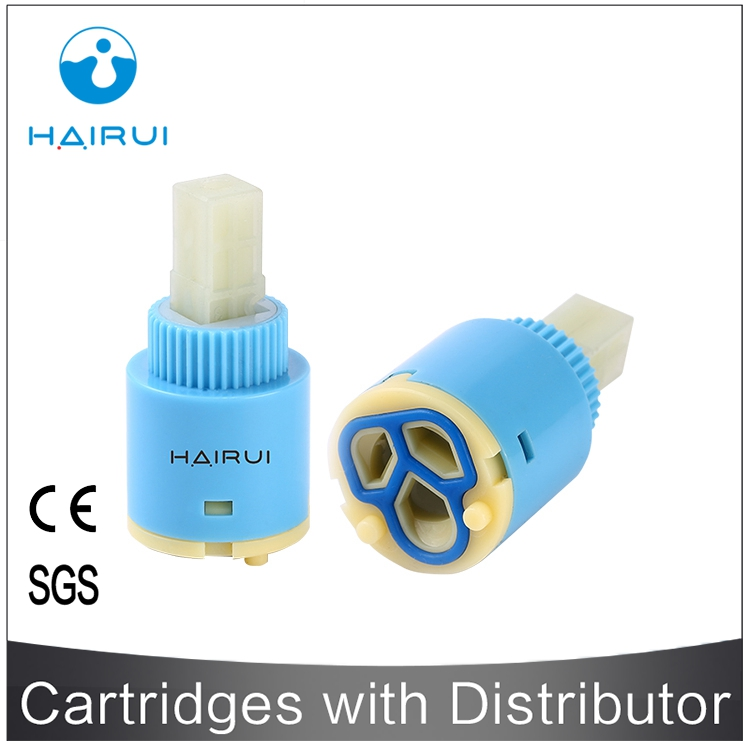 low temperature resistance multi colors brass 2-steps diverter ceramic cartridge HR25-F02