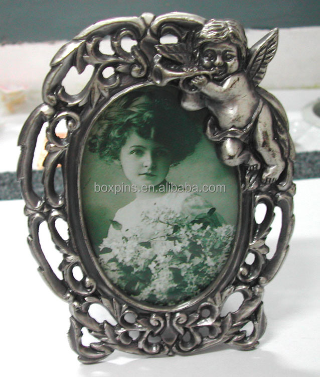 hot design elegant wedding photoframe, metal photoframe, vintage metal photo frame