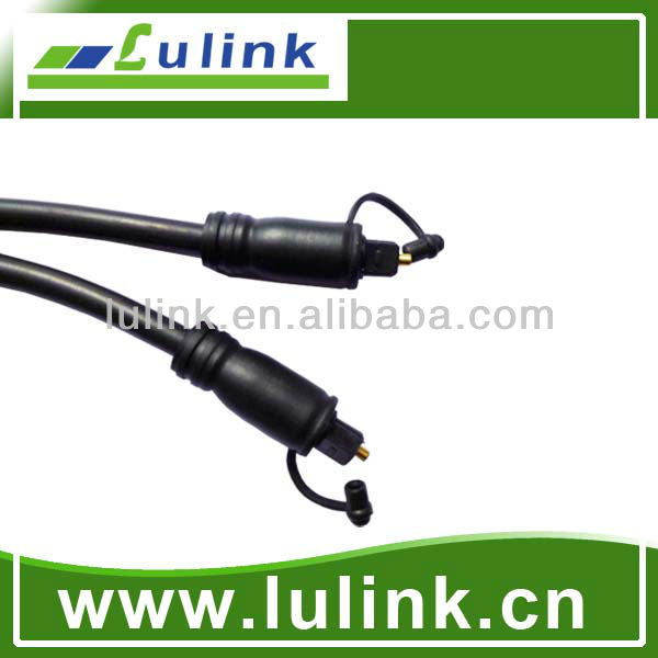 toslink to toslink fiber optical cable with dust hood cover cable OD6.0MM