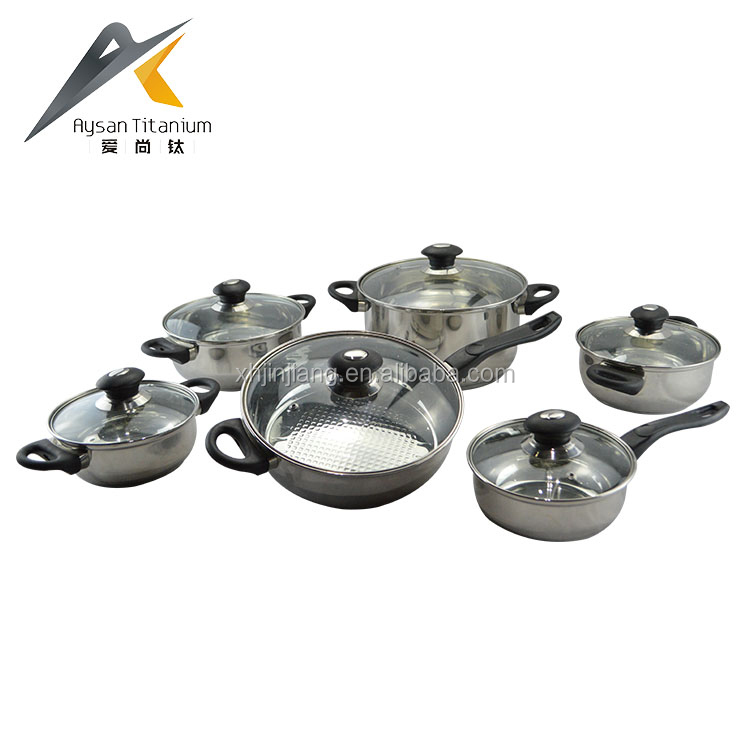 High Quality Custom Stainless Steel Cooking Pots and Pans Set