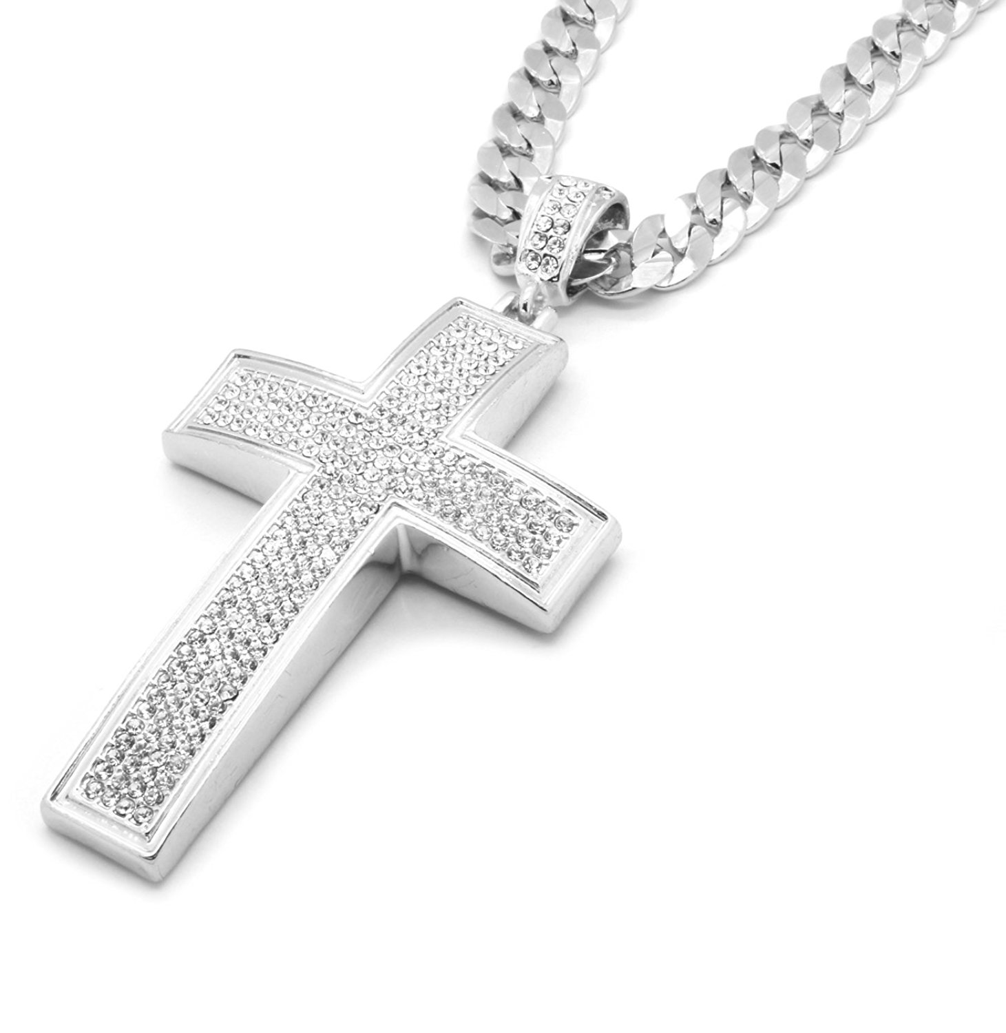 Buy mens silver plated iced out 30quot 1 row simulated diamond hip buy mens silver plated iced out 30quot 1 row simulated diamond hip hop chain necklace in cheap price on mibaba aloadofball Choice Image