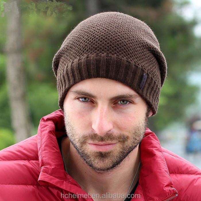 2015 nuevo color sólido de las gorritas tejidas del invierno Super gruesa  lana caliente sombrero unisex a4722b791ff7