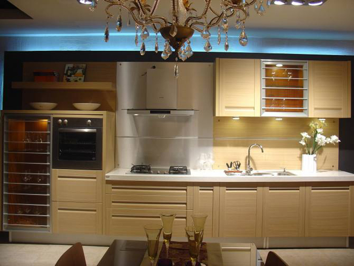White Mdf Kitchen Cabinet/modern Flat Pack Kitchen,Kitchen Cabinet ...