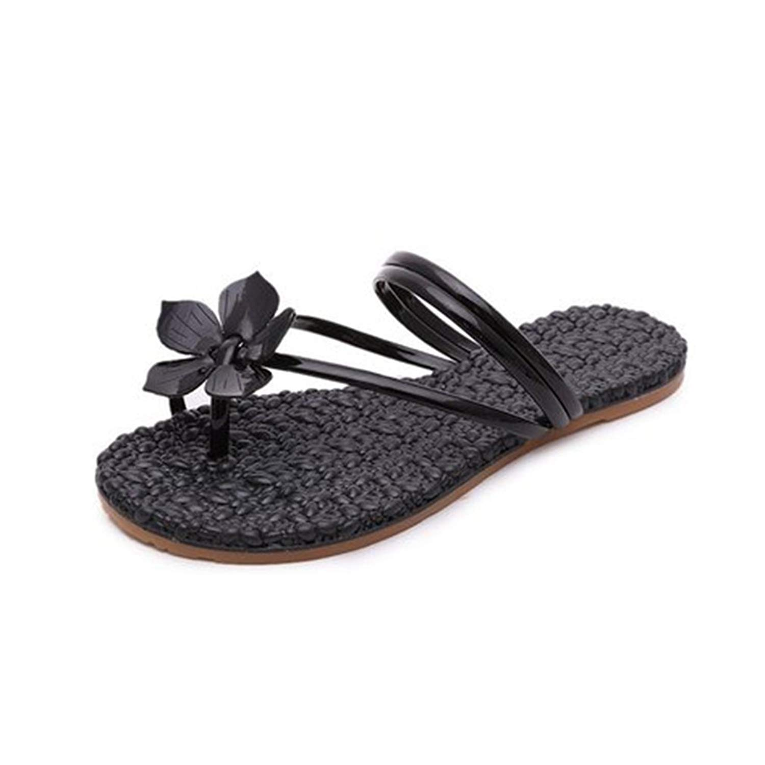 cfbb720a0901 Get Quotations · GIY Bohemian Flowers Flat Flip Flops Sandals for Women Toe  Ring Comfort Strappy Summer Beach Thong