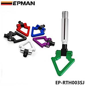 EPMAN Billet Aluminum Front Rear JDM Japanese Car Auto Triangle Ring Trailer Tow Hook Kit For TOYOTA Yaris EP-RTH003SJ