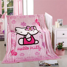 100% polyester carton printed flannel fleece children blanket