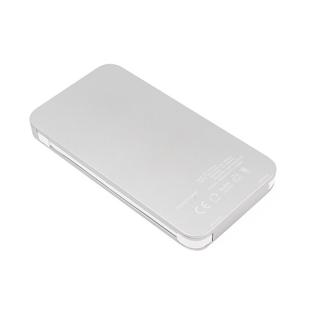 shenzhen company supplier Metallic finish Slim design mfi certified 1a output for apple power bank