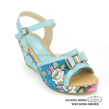 8f7f0157df4a new arrival top new design fashion royal blue 2018 new model women butterfly  wedge heel sandals
