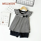 short sleeve kids clothing girls sets