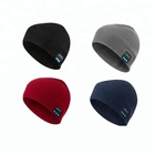In Stock small quantity Winter sports outdoor knitted bluetooth beanie hat