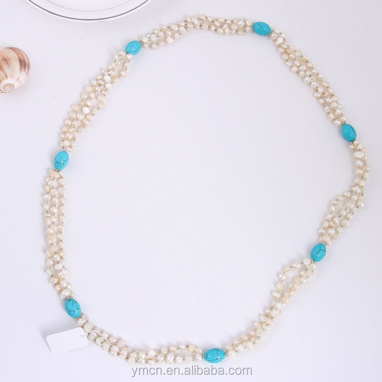 70 cm LONG BAROQUE PERLE ET PIERRE NATURELLE COLLIER NOUÉ 100% NATUREL D'EAU DOUCE PERLE