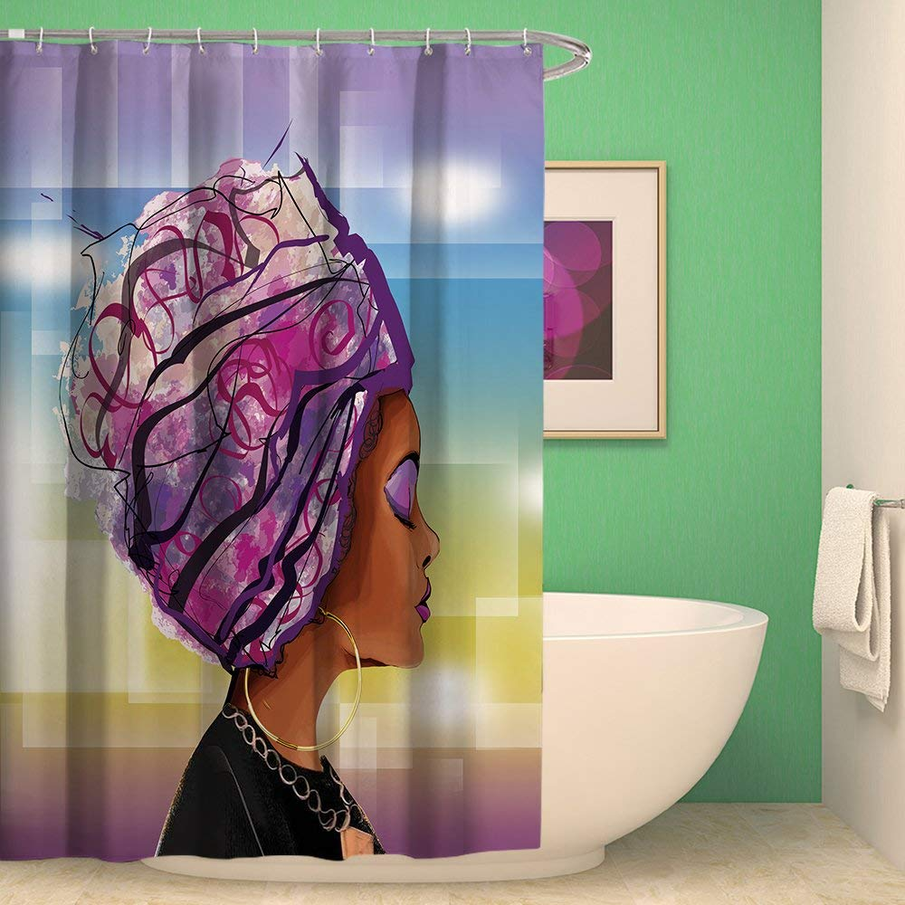 Buy Afro Girl Sexy Lady Shower Curtain With Hooks And Bath