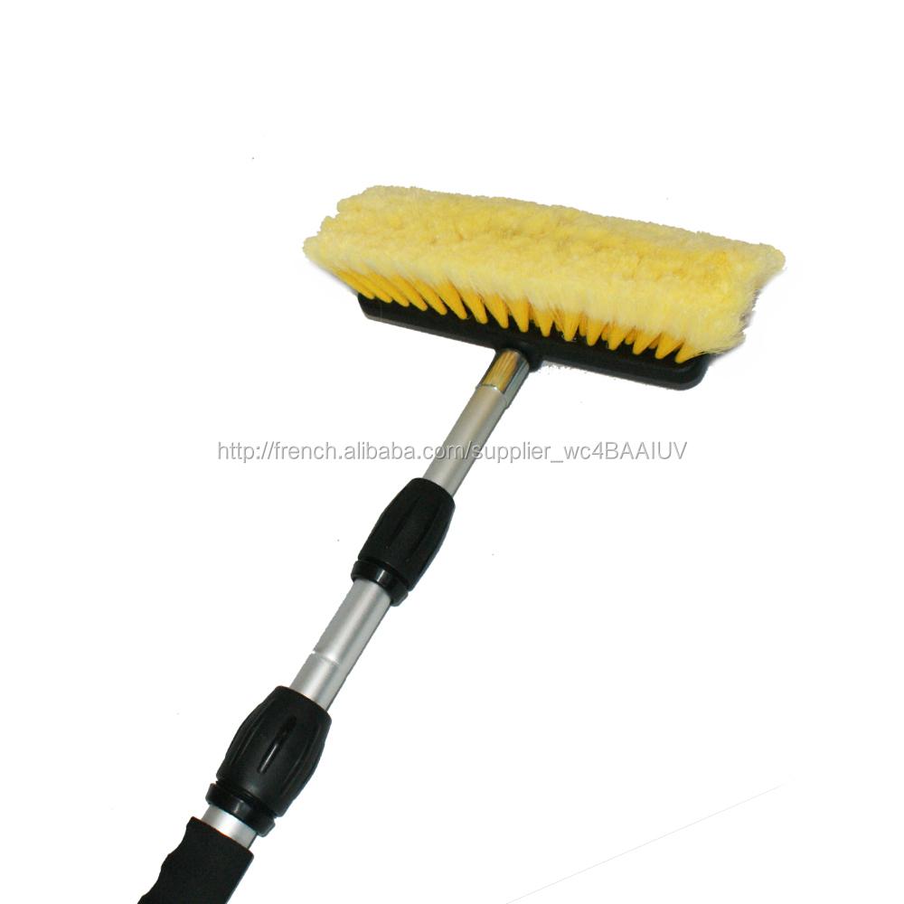 Brosse de lavage pro 300cm pour caravanes camions poign e t lescopique alu brosse de nettoyage - Balai brosse telescopique ...