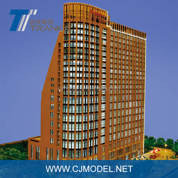 New 3D design architectural single building model with customized materials architectural house model making
