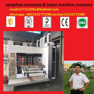 carton machinery suppliers die cutter/ corrugated cardboard roller printing slotting