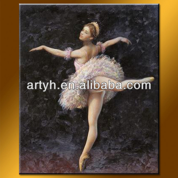 Hot Sale Dancing Girl Oil Painting On Canvas