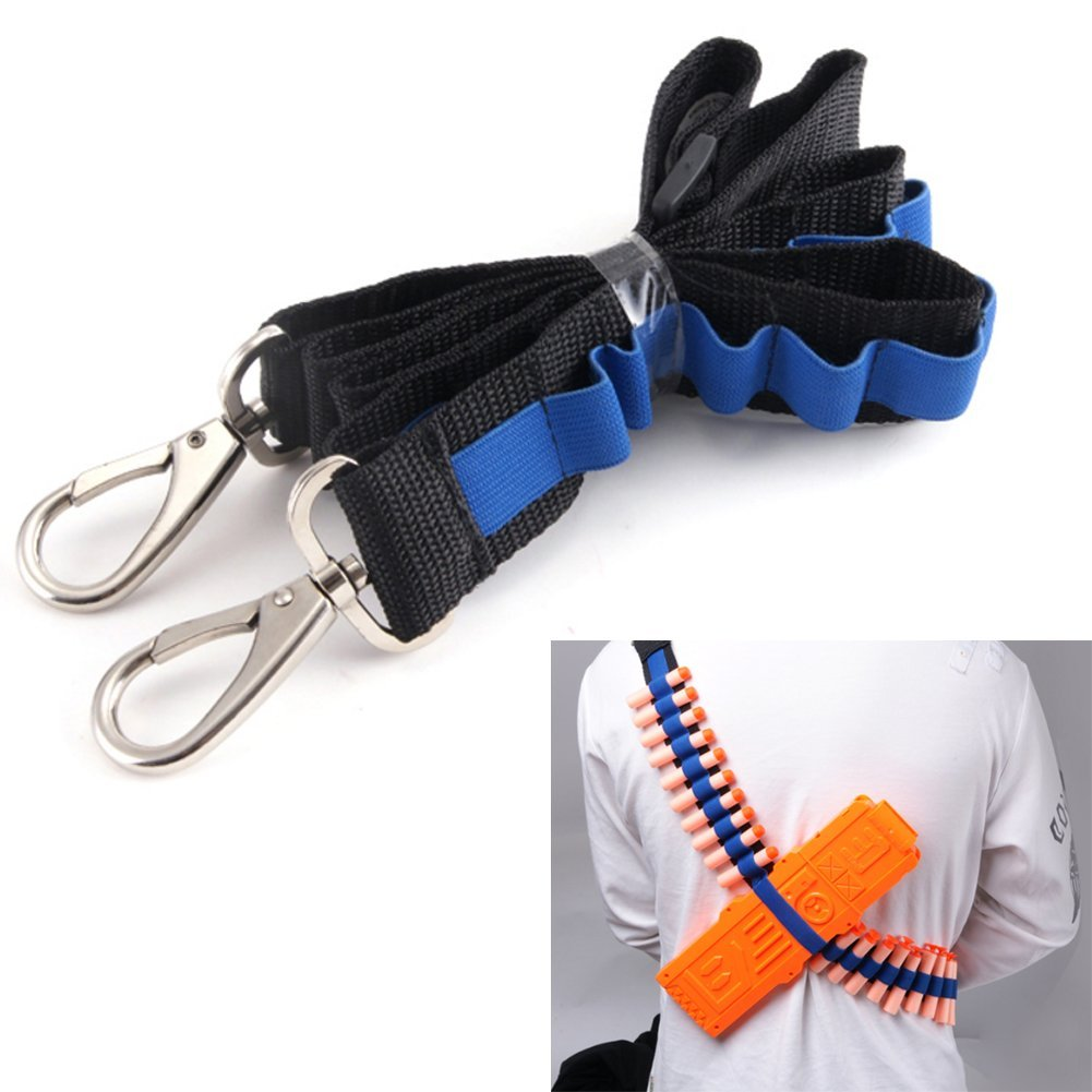 Yosoo Bandolier Toy Gun Soft Bullets Belt Shoulder Strap Clip Charger Darts Ammo Storage For Nerf N-strike Blasters Cartridge Holder