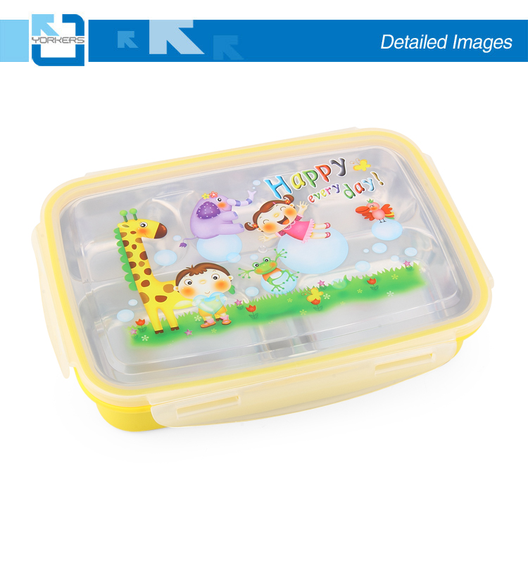 5 compartiment rvs lunchbox & kids lunchbox