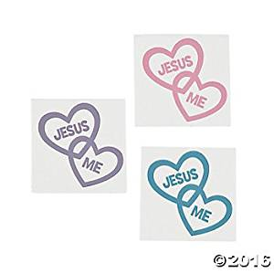 Cheap religious teacher gifts find religious teacher gifts deals on get quotations 144 inspirational jesus loves me temporary tattoos religious heart shaped tattoos sunday negle Choice Image