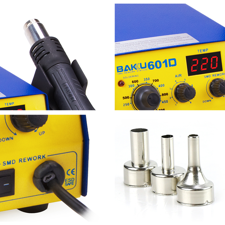 BAKU Hot Products Digital Display Smd Rework Soldering Station 2 in 1 BK601D