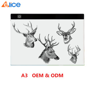 Customized A3 Adjustable Ultra-thin LED Tracing Light Pad Light Box Artist Portable Stencil Tattoo Acrylic Drawing Board