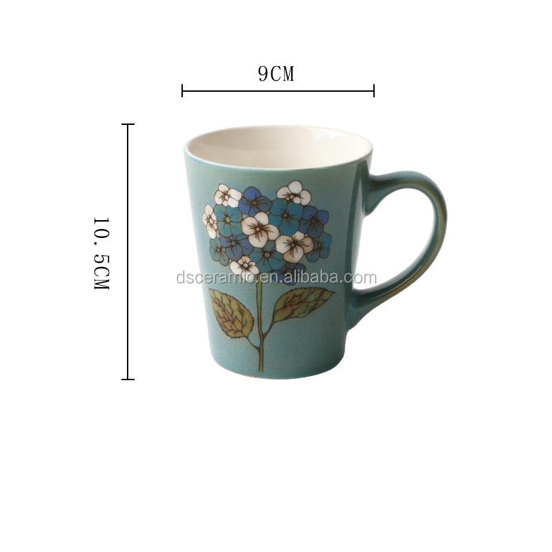 colored underglaze decal hand painted Ceramic milk Coffee Mugs