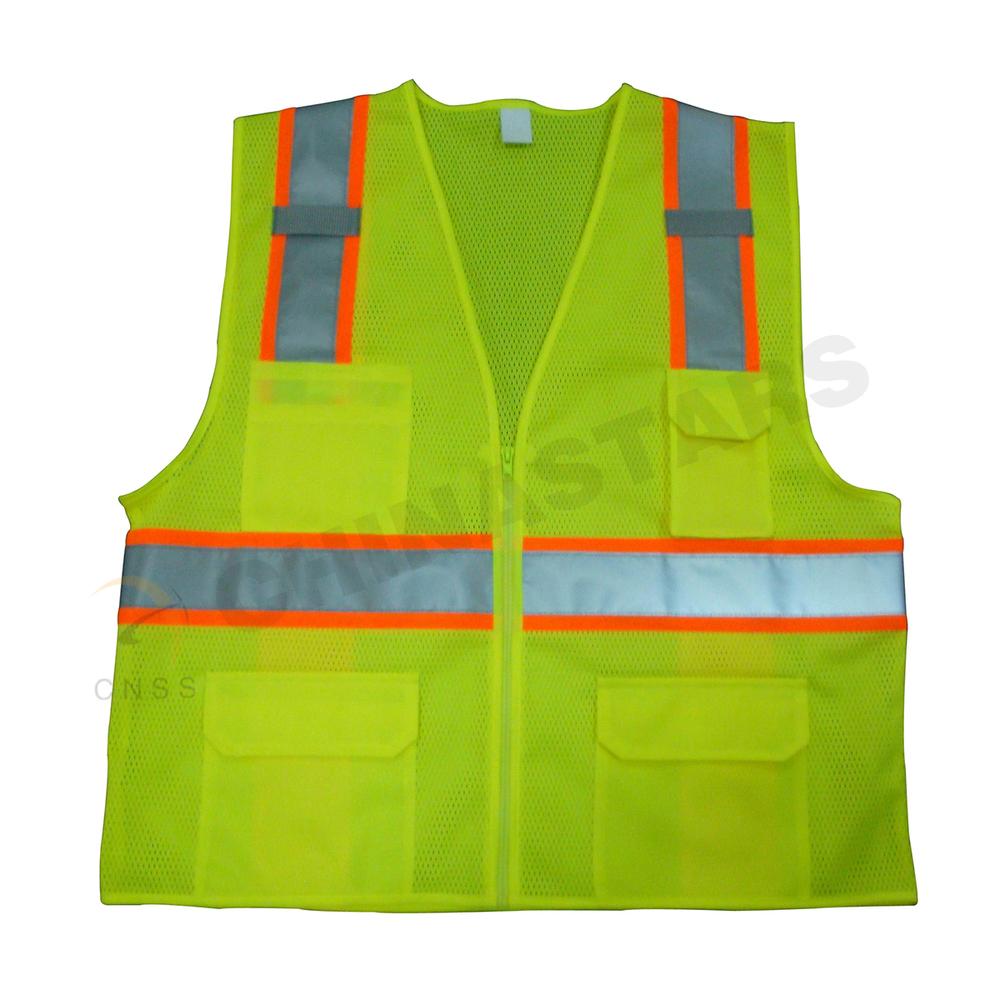 Reflective Black Safety Vest With Customized Logo Imprint