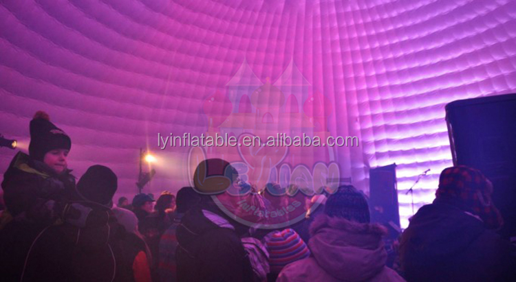 Weather Resistant Large Inflatable Event Domes With Tunnel