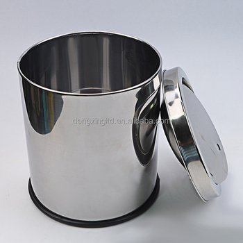 Small Swing Lid Stainless Steel Trash Can Buy Swing Top Waste Bin
