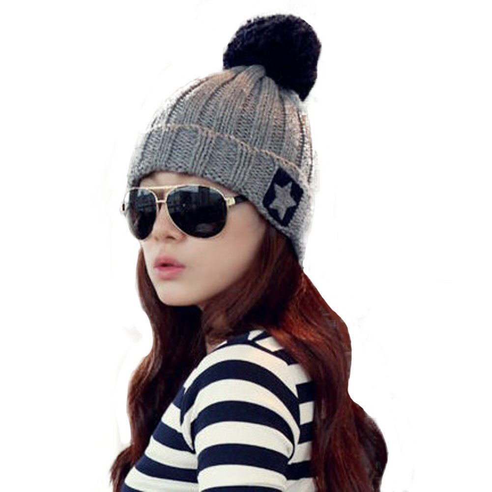 0ce84ff8100 Get Quotations · Women s Hats Snow Cap Snowboarding Hats Casual Headwear  Outfit Stylish Star Knit Winter Warm Skiing