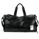 Black Genuine Cowhide Large Capacity Travel Bag Leather Weekend Overnight Business Duffel bag For Man