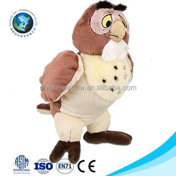 Lifelike Real Fur Talking Owl Soft Toy Fashion Design Cute Plush