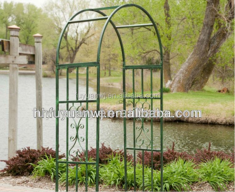 Hoogwaardige decoratieve ijzeren planten tuin boog ontwerp smeedijzeren pergola paviljoen - Smeedijzeren pergola ...