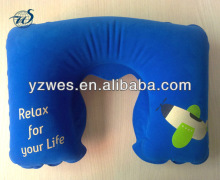 Soft inflatable travel pillow/air pillow