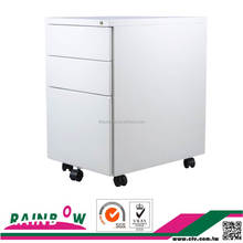 Factory direct 3 drawers mobile filing cabinet