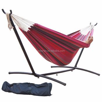 balanoire extrieur fauteuil suspendu camping coton doublejardin hamac stand - Hamac Exterieur