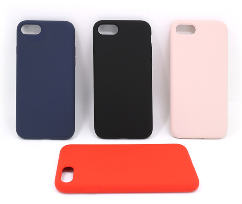 high quality silicone  case full protection for iphone 7,8 back cover cases